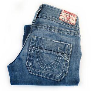 "TRUE RELIGION | ""Sammy Big T"" Trouser Style Jeans"